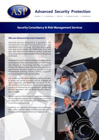 Security Consultancy and Risk Management Brochure in English