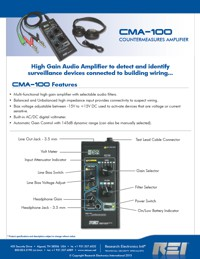 Technical Specifications for CMA 100